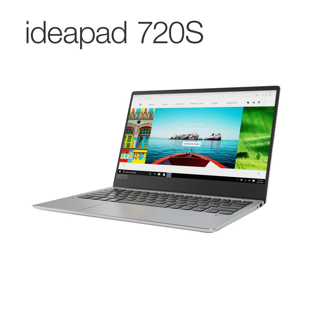 直販 ノートパソコン:Lenovo ideapad 720S :Corei5搭載(13.3型 FHD/8GBメモリー/256GB SSD/Windows10/Officeなし/プラチナ)【送料無料】
