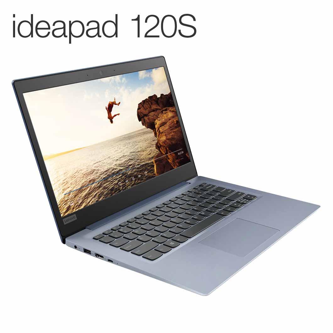 直販 ノートパソコン:Lenovo ideapad 120S Celeron搭載(14.0型/4GBメモリー/128GB SSD/Windows10/Officeなし/デニムブルー)【送料無料】