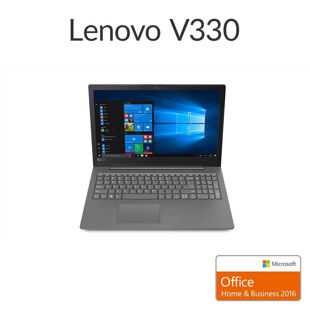 直販 ノートパソコン Officeあり:Lenovo V330 Core i5-8250U搭載(15.6型 FHD/8GBメモリー/256GB SSD/Windows10/Microsoft Office Home & Business 2016/アイアングレー)【送料無料】