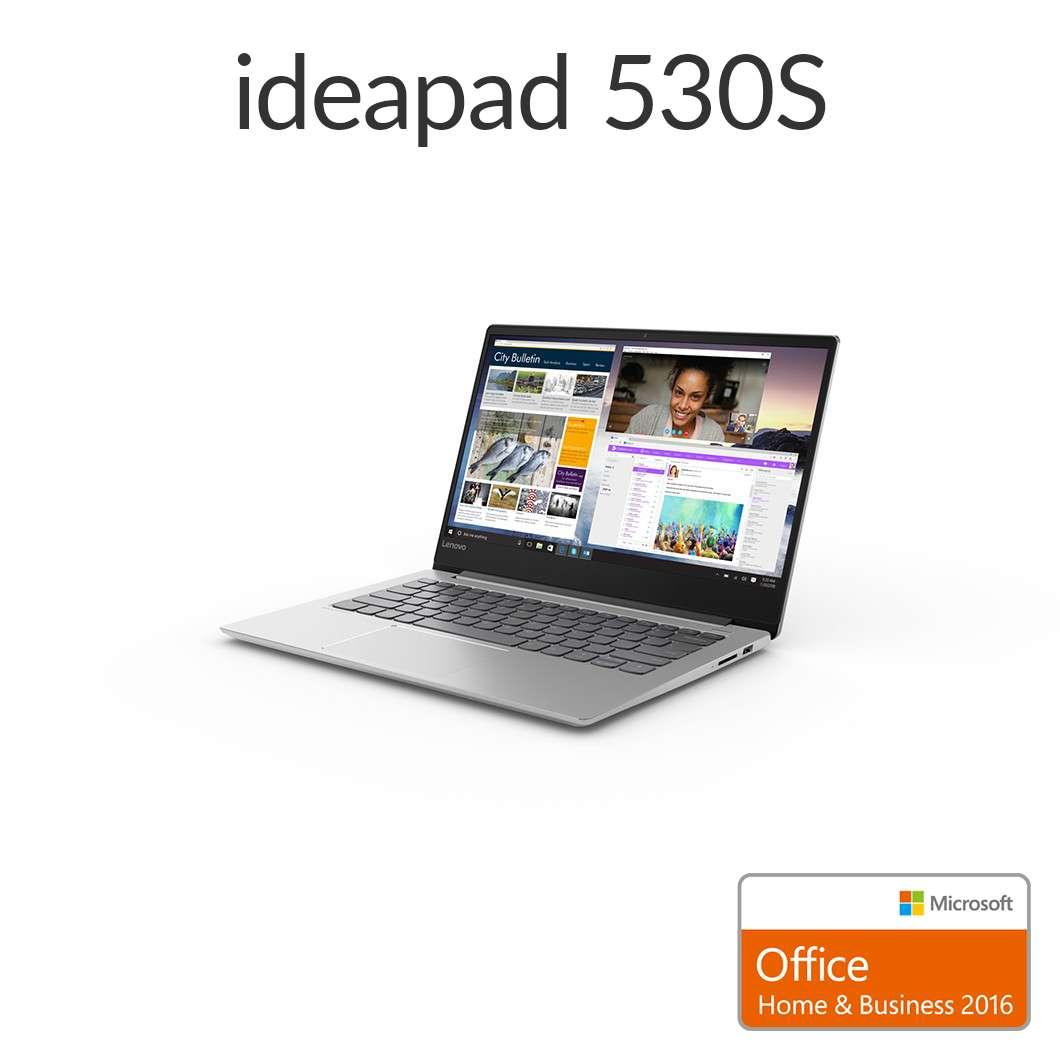直販 ノートパソコン Officeあり:Lenovo Ideapad 530S AMD Ryzen 5搭載(14.0型 FHD/8GBメモリー/256GB SSD/Windows10/Microsoft Office Home & Business 2016/ミネラルグレー)【送料無料】