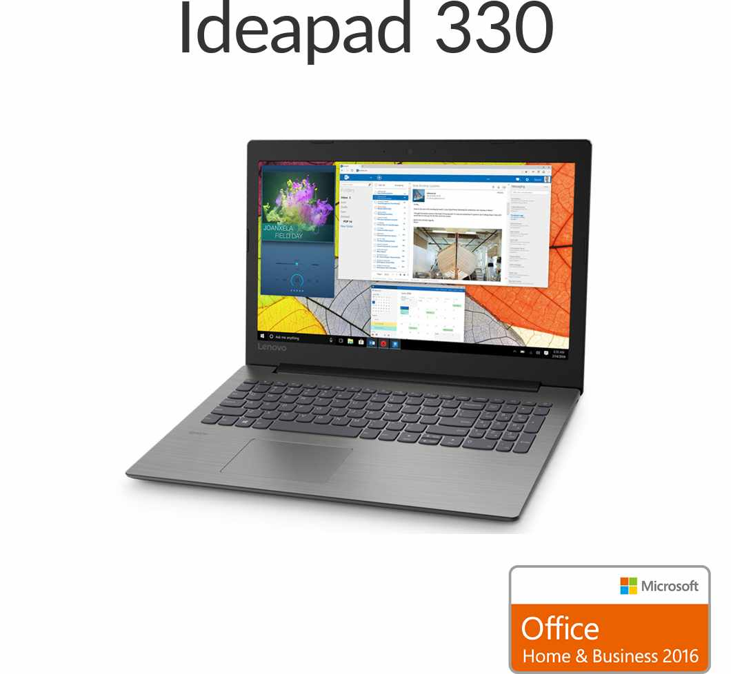 【スーパーSALE!12月11日01:59まで当店ポイント5倍】直販 ノートパソコン Officeあり:Lenovo Ideapad 330 AMD A4搭載(15.6型 FHD/4GBメモリー/1TB HDD/Windows10/Microsoft Office Home & Business 2016/プラチナグレー)【送料無料】