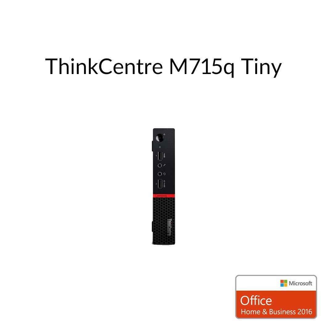 【5月30日23:59まで当店ポイント3倍!】直販 デスクトップパソコン Officeあり:ThinkCentre M715q Tiny AMD PRO A6搭載モデル(4GBメモリ/500GB HDD/モニタなし/Microsoft Office Home and Business 2016 /Windows10)【送料無料】