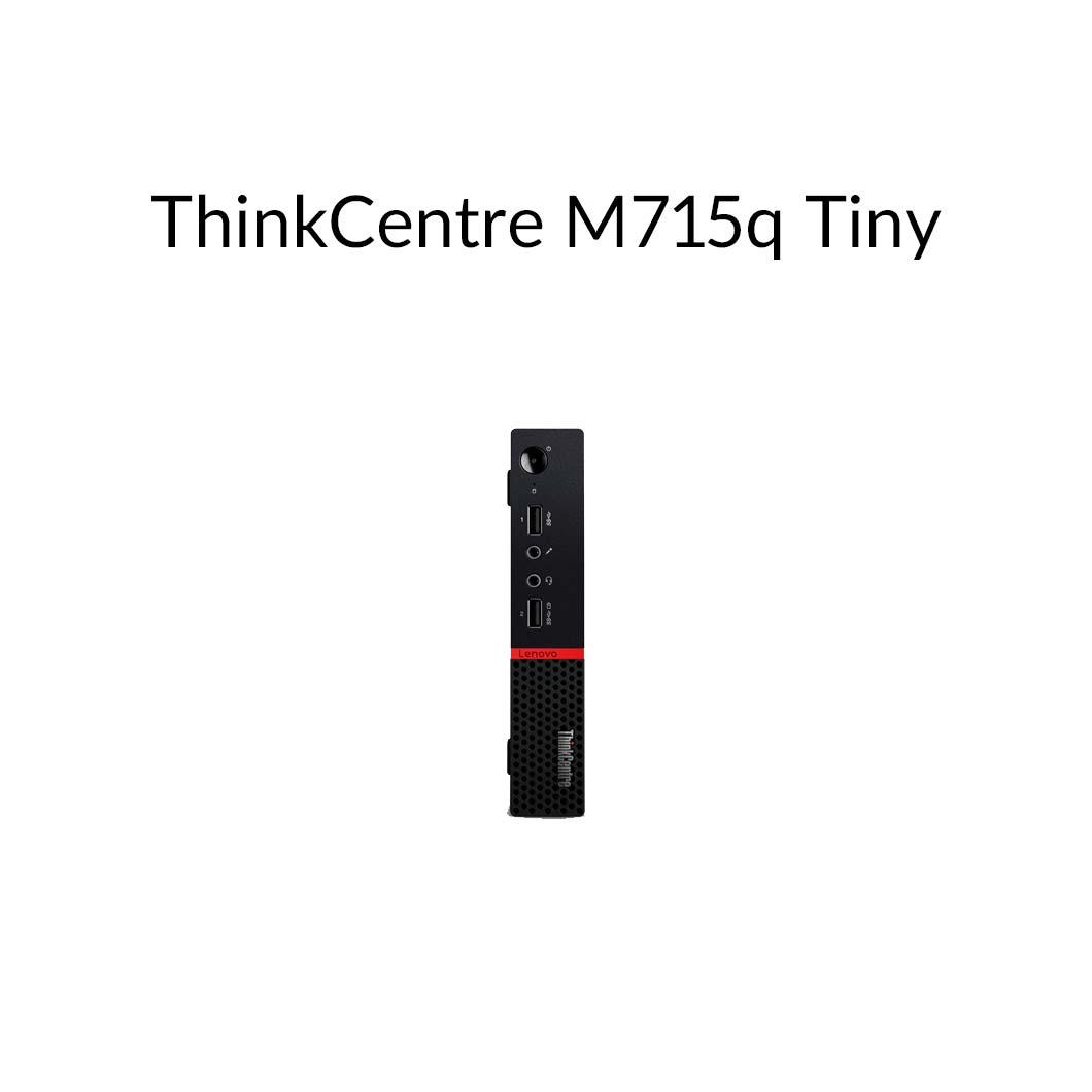【5月30日23:59まで当店ポイント3倍!】直販 デスクトップパソコン:ThinkCentre M715q Tiny AMD PRO A6搭載モデル(4GBメモリ/500GB HDD/モニタなし/Officeなし/Windows10)【送料無料】