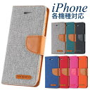 iPhone ケース ファブリック 手帳型【iPhoneX iPhone8 iPhone7 iPhone6S iPhoneSE iPh...