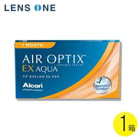 【メール便】エア オプティクス EXアクア 3枚入1箱 ( コンタクトレンズ コンタクト 1ヵ月使い捨て 1ヵ月 1month アルコン 日本アルコン エアオプティクスEXアクア エアオプ 3枚入り 1箱 )