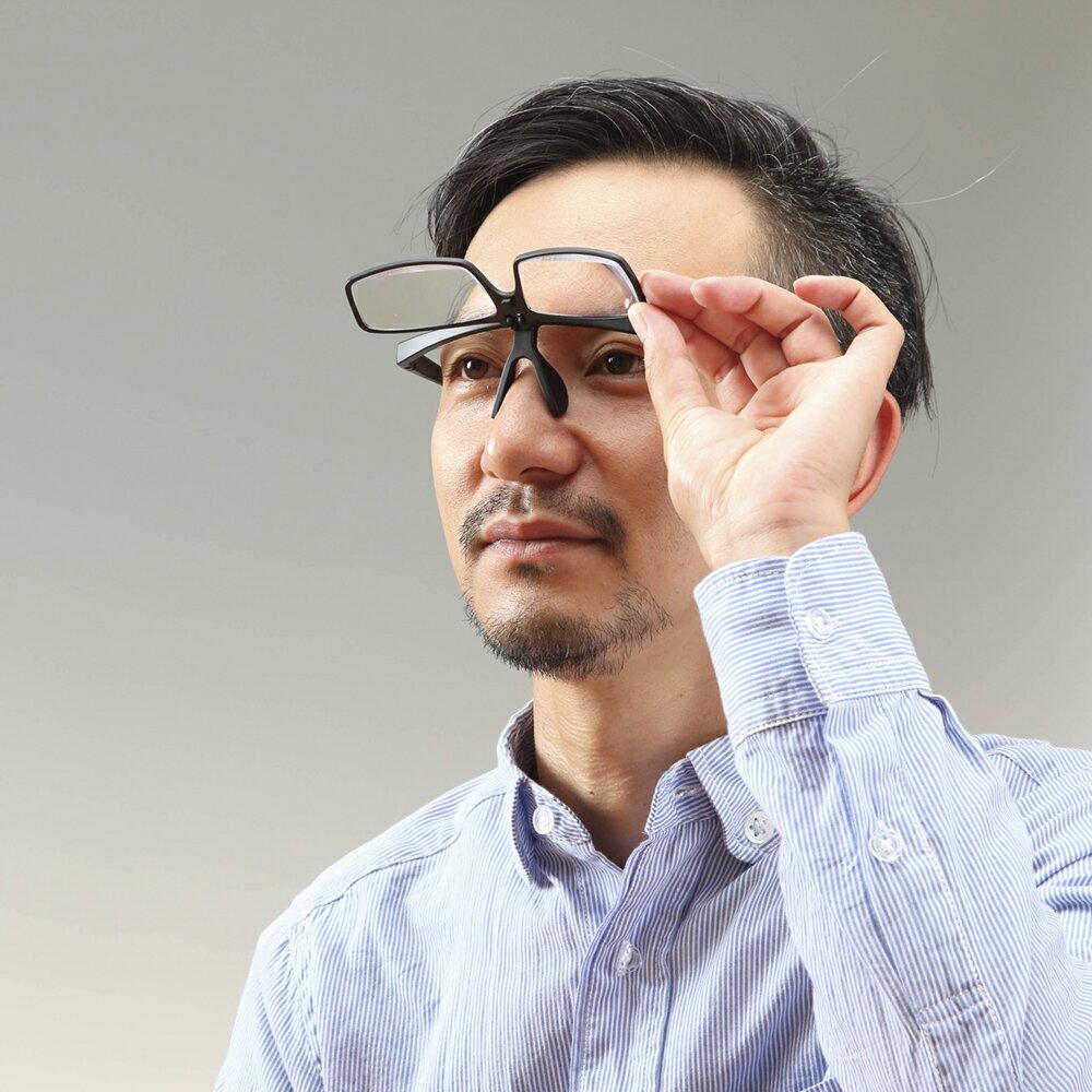 メガネ型ルーペ拡大鏡1.32倍1.68倍2倍ブルーライトカット30%