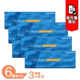 【送料無料】ワンデーアクエアエボリューション 6箱セット(1箱30枚入り)/クーパービジョン/ワンデー/アクエア/エボリューション/1日使い捨て/コンタクトレンズ