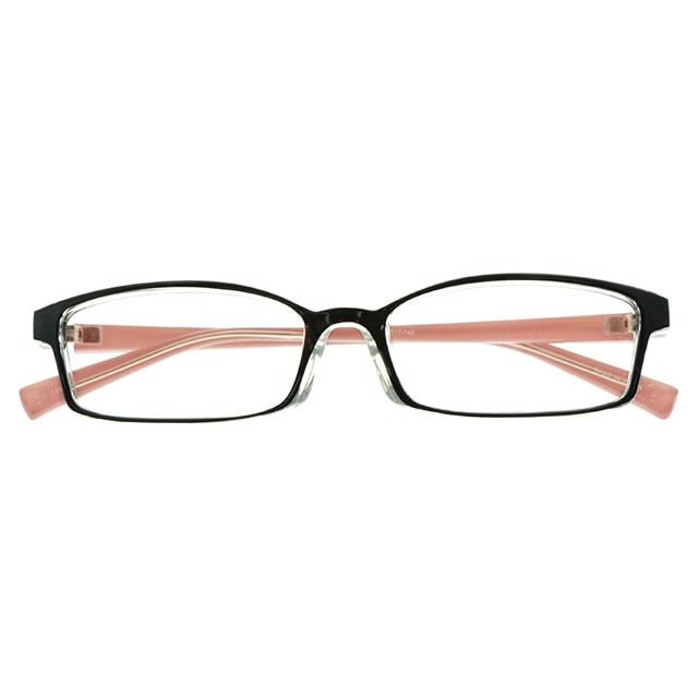 【2700円の眼鏡セット 軽量 度付きメガネ】YUNIBA-TR2 PK