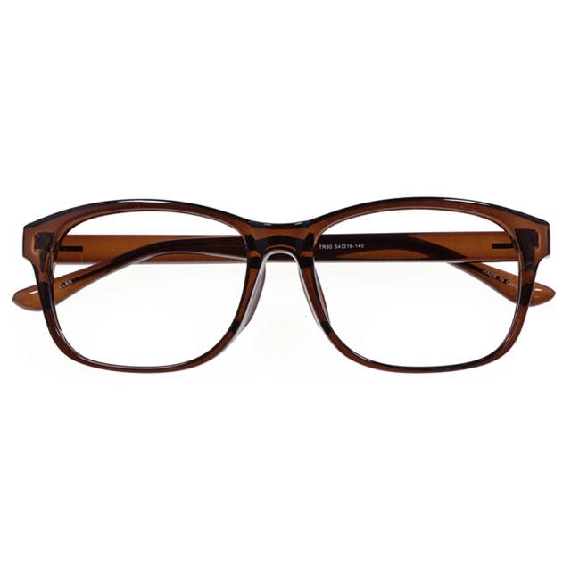 【2700円の眼鏡セット 軽量 度付きメガネ】YUNIBA-TR1 CLBR