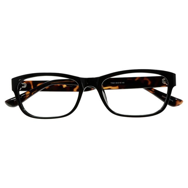 【2700円の眼鏡セット 軽量 度付きメガネ】YUNIBA-TR4 DMBK