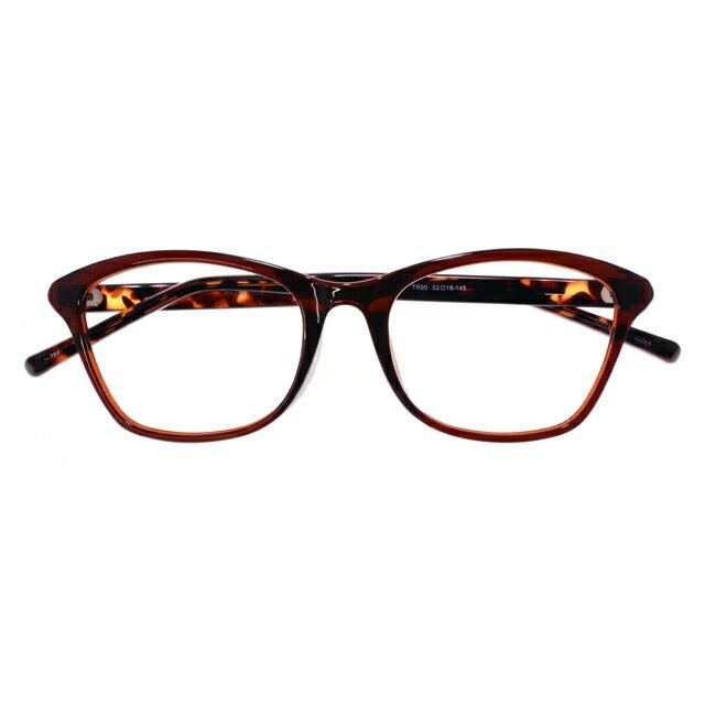 【2700円の眼鏡セット 軽量 度付きメガネ】KAZARU-002 DMBR