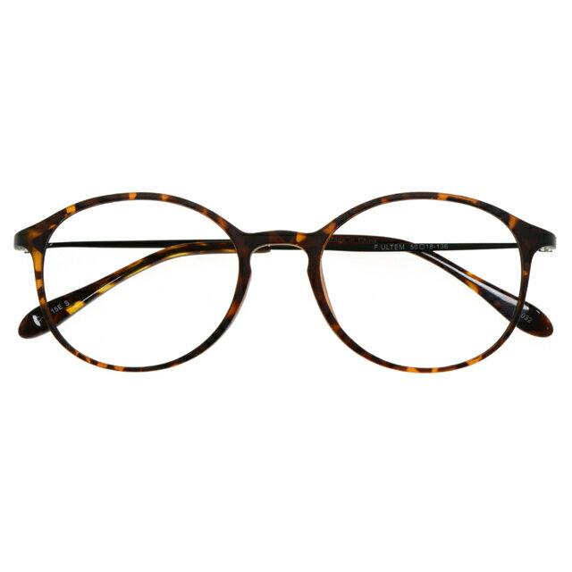【3780円の眼鏡セット CLASSIC 軽量 度付きメガネ】UT032-1 DMBR