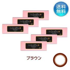 ワンデースパークリングUV ブラウン 6箱セット 30枚入り 度あり 1day フチあり カラコン