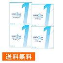 WAVEワンデー/UV/エアスリム/plus/×4箱セット/WAVE/コンタクト/コンタクトレンズ/クリア/1day/ワンデー/使い捨て/ソフト/送料無料/ウェイブ/超薄型/低含水/非イオン性/UVカット機能付き