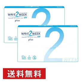300円OFFクーポン 1日23:59まで WAVE 2ウィーク UV plus ×2箱セット WAVE コンタクト コンタクトレンズ クリア 2week 2ウィーク 使い捨て ソフト 送料無料 ウェイブ