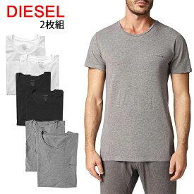 送料無料 ディーゼル Tシャツ 半袖 丸首 2枚セット 00SHGS 0JAQX UMTEE-RANDAL 2Pack 【32-34】あす楽 対応