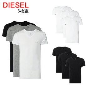 送料無料 ディーゼル Tシャツ 半袖 Vネック 3枚セット 00SPDM 0AALW UMTEE-JAKE 3Pack 【45-47】 あす楽 対応