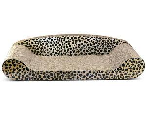 猫 爪とぎ ダンボール ベッドデザイン チーター柄 段ボール製爪とぎ