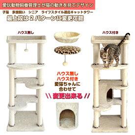 キャットタワー 据え置き シンプルなスリムデザインで 大型猫ちゃん多頭飼いに対応 JAGUAR-HEART CTJ-2 新製品(2020年ねこのきもち9月号掲載商品)