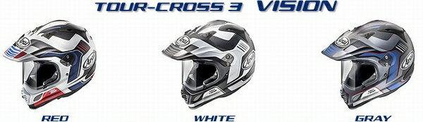 (ヘルメット バイク) ARAI (アライ) ツアークロス3 Vision (ビジョン) ヘルメット (欠品あり 次回入荷予定未定)