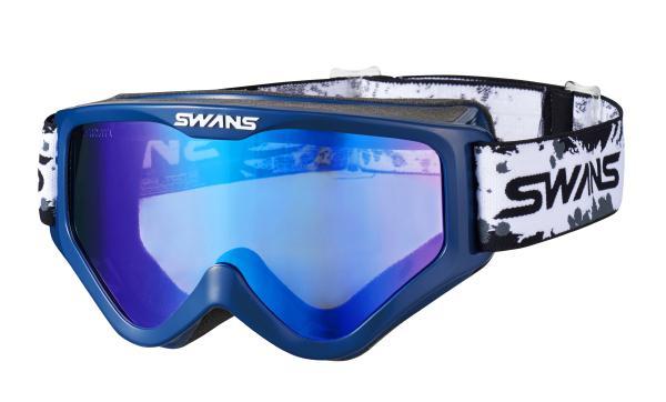 2018 SWANS (スワンズ) MX-797-M (797M) (OTG 眼鏡用) ゴーグル ダークブルーフレーム フラッシュブルーミラー/スモークレンズ (欠品中 次回入荷予定未定)