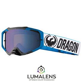 2018 Dragon (ドラゴン) MXV MAX ゴーグル ミラーレンズ Factory Blue (ファクトリーブルー) LUMAレンズ (ルーマレンズ ルマレンズ) フラッシュブルーミラー (クリアレンズ付属) 358326024601