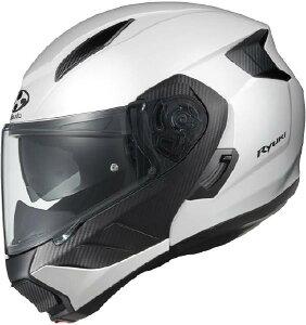(ヘルメット バイク) OGK KABUTO (オージーケーカブト) RYUKI (リュウキ リューキ) ホワイトメタリック/XL ヘルメット (欠品中 次回入荷予定未定)