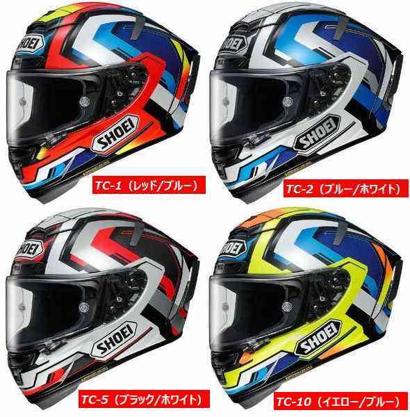 Shoei (ショウエイ) X-Fourteen (X-14 X14 Xフォーティーン) Brink (ブリンク) ヘルメット (ピンロックシート付属) (欠品あり 次回入荷予定2018年7月以降)