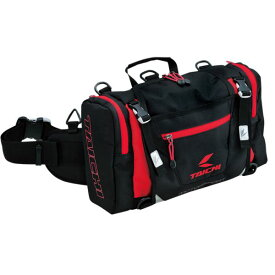 RSタイチ RSB268 ヒップバッグ(L) BLACK/RED 10L