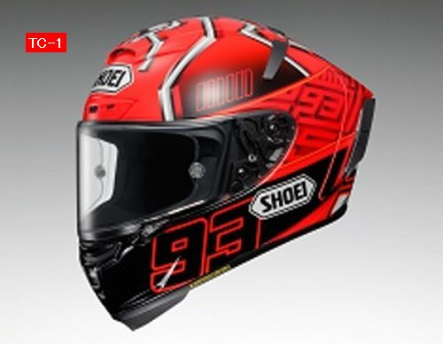 Shoei (ショウエイ) X-Fourteen (X-14 X14 Xフォーティーン) Marquez4 (マルケス4) ヘルメット TC-1 レッド/ブラック (ピンロックシート付属) (欠品あり 次回入荷予定未定)