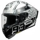 Shoei (ショウエイ) X-Fourteen (X-14 X14 Xフォーティーン) Marquez4 (マルケス4) ヘルメット TC-6 ホワイト/ブラ...