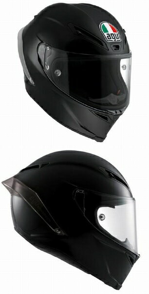 AGV CORSA R (コルサR コルサ R) ヘルメット Matt Black (マットブラック) SG規格 MFJ公認 (ピンロックシート付属) (返品 交換不可商品) (日本代理店正規品)