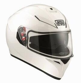 AGV K-3 SV (K3 SV) ヘルメット ホワイト サンバイザー標準装備 ピンロックシート付属 SG規格 MFJ公認 (返品 交換不可商品) (日本代理店正規品)