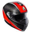 AGV SPORTMODULAR (スポーツモジュラー) AERO CARBON RED (エアロカーボンレッド) システムヘルメット サンバイザー標準装備 ピン…