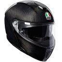 AGV SPORTMODULAR (スポーツモジュラー) GLOSSY CARBON (グロッシーカーボン) システムヘルメット サンバイザー標準装備 ピンロッ…
