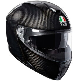AGV SPORTMODULAR (スポーツモジュラー) GLOSSY CARBON (グロッシーカーボン) システムヘルメット サンバイザー標準装備 ピンロックシート付属 SG規格 JIS規格 (返品 交換不可商品) (日本代理店正規品)