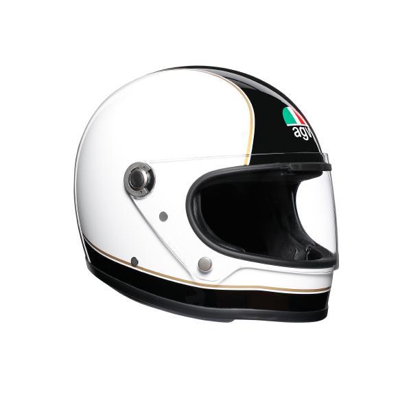 AGV Legends (レジェンド レジェンズ) X3000 AGV JIST MULTI ヘルメット SUPER AGV ブラック/ホワイト (返品 交換不可商品) (日本代理店正規品)