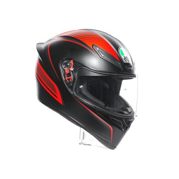 AGV K1 (K-1) ヘルメット WARMUP MATT BLACK/RED (ウォームアップ マット ブラック/レッド) SG規格 (返品 交換不可商品) (日本代理店正規品) (欠品あり 次回入荷予定未定)