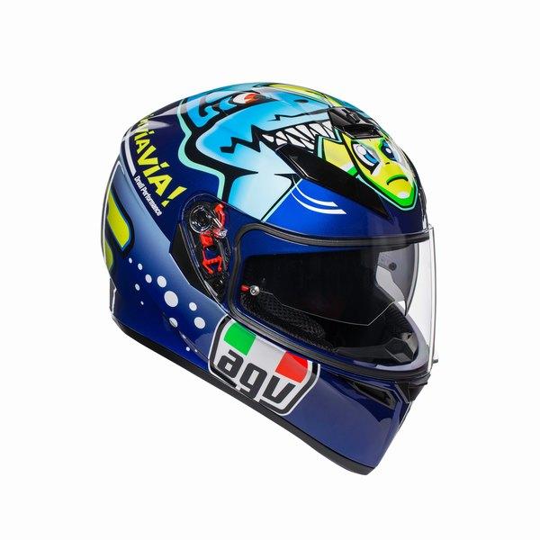 AGV K-3 SV (K3 SV) ヘルメット ROSSI MISANO 2015 (ロッシ ミサノ 2015) サンバイザー標準装備 ピンロックシート付属 SG規格 (返品 交換不可商品) (日本代理店正規品) (欠品あり 次回入荷予定未定)