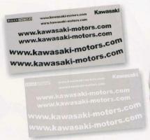 カワサキ (純正) KAWASAKI WEBステッカーキット ホワイト J7010-0116 ブラック J7010-0117