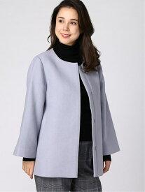 [Rakuten Fashion]H/ノーカラーショートCT LEPSIM レプシィム コート/ジャケット ノーカラージャケット ブルー グレー ネイビー【送料無料】