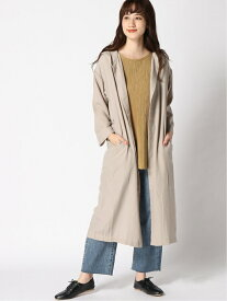 [Rakuten Fashion]【SALE/50%OFF】K/キナガシフードLCT LEPSIM レプシィム ニット カーディガン グレー ブラック【RBA_E】