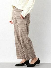 [Rakuten Fashion]【SALE/54%OFF】チェックBANANAP LEPSIM レプシィム パンツ/ジーンズ スラックス/ドレスパンツ ブラウン グレー【RBA_E】