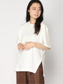 【SALE/50%OFF】B/サイドアシメヘムTSS LEPSIM レプシィム カットソー Tシャツ ホワイト ベージュ ブラック【RBA_E】[Rakuten Fashion]