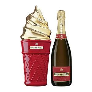パイパーエドシック・ブリュット・アイスクリーム・クールボックス 正規品 シャンパン 辛口 白 750ml【アイスクリームのクーラーボックスに入った限定品】