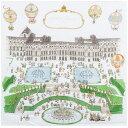 【 送料無料 】アトリエシュー おくるみ ブランケット 100cm × 100cm 【 ヴェルサイユ宮殿 】 ガーゼ Atelier Choux