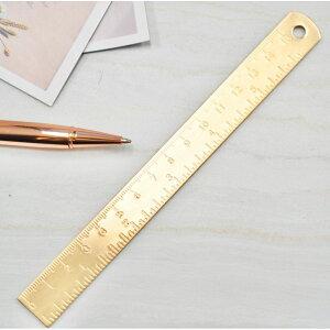 【アンティーク ゴールド 定規】真鍮 15cm じょうぎ 測定 学校 オフィス 文房具 文具 デスク おしゃれ 事務用品 インテリア ステーショナリー
