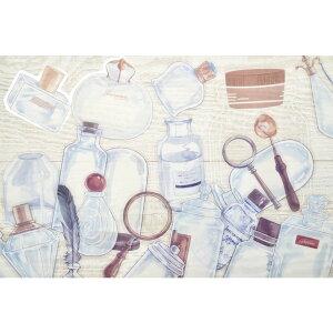 【アンティーク ボトル ステッカー】20枚入 装飾 シール デコレーション 瓶 容器 PET素材 透明 ステッカー コラージュ 北欧 かわいい おしゃれ