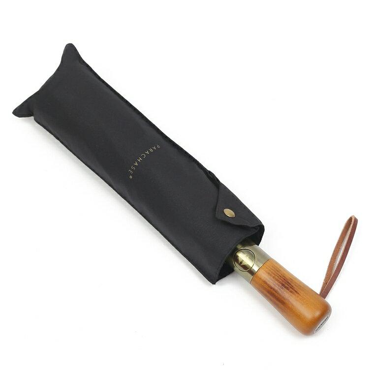 【送料無料】PARACHASE 折りたたみ傘 自動開閉 メンズ 二重層 風に強い 10本骨 おりたたみ傘 大きい 木製 130cm 収納ポーチ付き(ブラック)