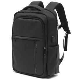 【送料無料】SLOTAM ビジネスリュック リュック メンズ バックパック 15.6インチ PCバッグ ラップトップ USB充電ポート 盗難防止 防水 耐傷付き 21L ブラック